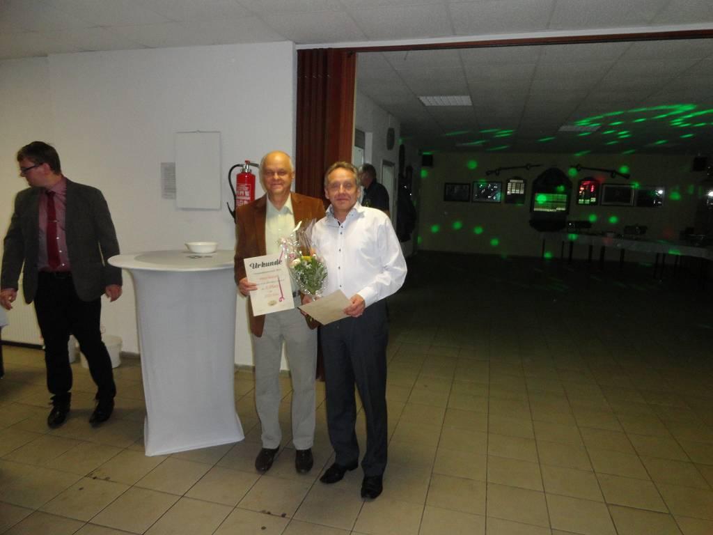 Herren B Meister Ralf Fischer und Zweitplatzierter Peter Balzer